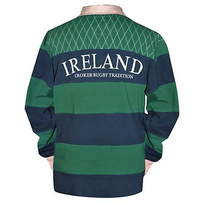 Croker Green & Navy Traditional Rugby Shirt