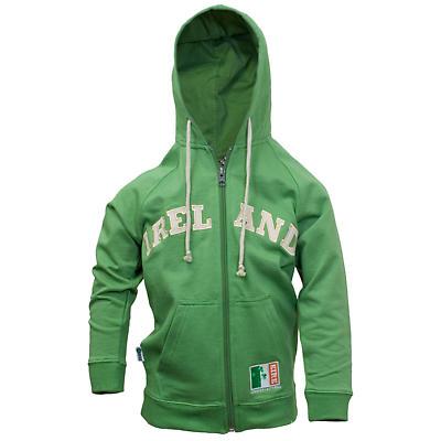 Kids Green Ireland Zip Hoodie Sweatshirt