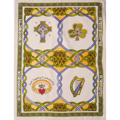 Irish Symbols Tea Towel
