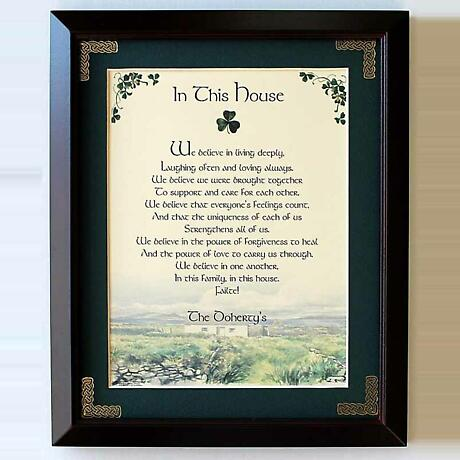 Personalized In This House Framed Print
