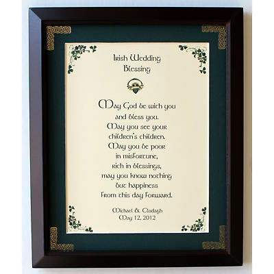 Personalized Irish Wedding Blessing Framed Print