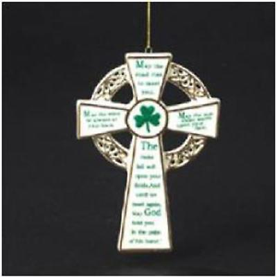Irish Christmas - Irish Blessing Shamrock Cross Ornament