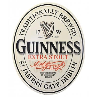 Guinness 3D Oval Label Wall Plaque