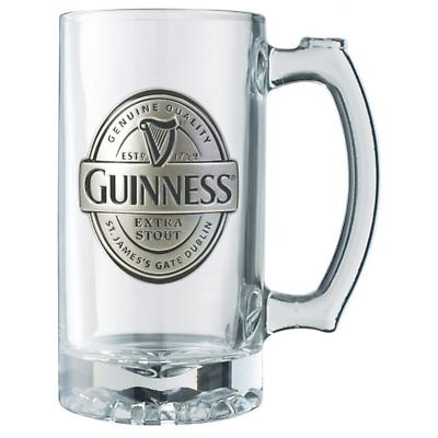 Guinness Label Tankard with Pewter Logo
