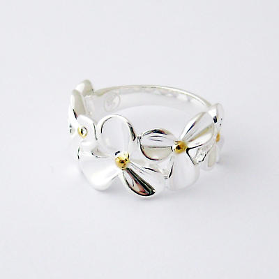 Jean Butler Jewelry Irish Ring - Silver and Gold Wild Flowers Irish Ring