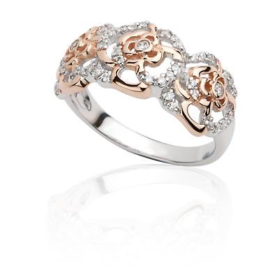 Jean Butler Jewelry Irish Ring - Sterling Silver Rose Two Tone Irish Ring