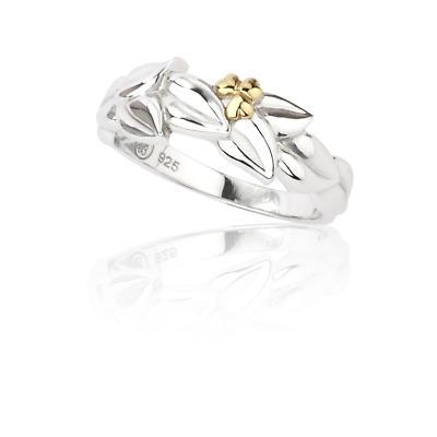 Jean Butler Jewelry Irish Ring - Sterling Silver Shamrock Bud Twisted Irish Ring