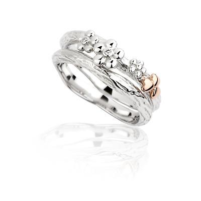 Jean Butler Jewelry Irish Ring - Sterling Silver Irish Nature Stacking Irish Ring