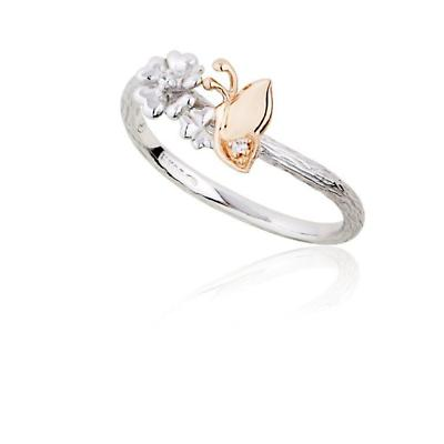 Jean Butler Jewelry - Sterling Silver Primrose & Butterfly 18k Rose Gold Plated Irish Ring