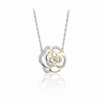 Jean Butler Jewelry - Sterling Silver Irish Rose 18k Yellow Gold Plate Irish Pendant