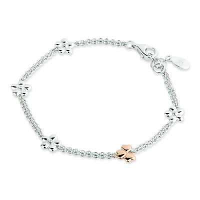 Jean Butler Jewelry - Sterling Silver Irish Shamrock and Primrose Irish Bracelet