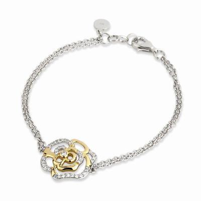 Jean Butler Jewelry - Sterling Silver Irish Rose 18k Yellow Gold Plate Bracelet