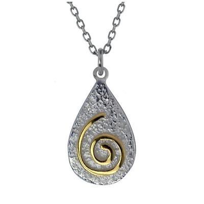 Irish Necklace - Sterling Silver Newgrange Spiral Pendant