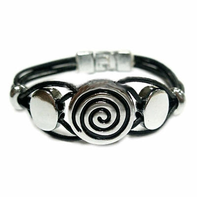 Celtic Bracelet - Celtic Circle Leather Bracelet