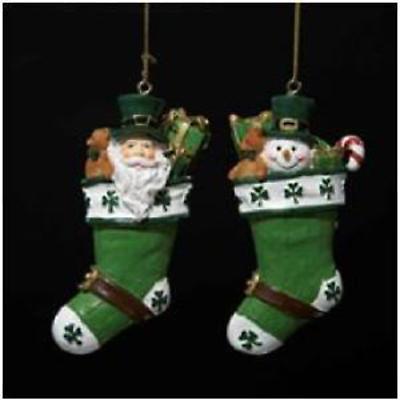 Irish Christmas - Irish Stocking Ornaments - Set of 2