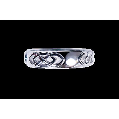 Celtic Ring - Men's White Gold Multiple Celtic Knot Ring