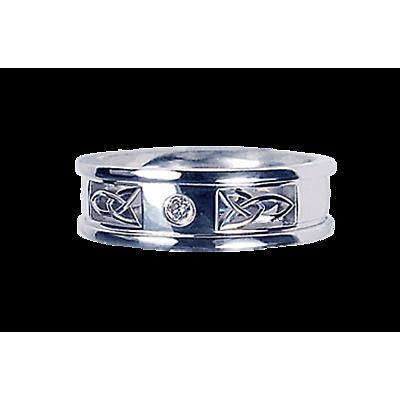 Celtic Ring - Ladies White Gold Multiple Celtic Knot Ring