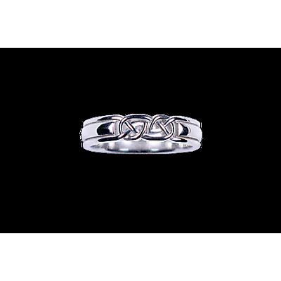 Celtic Ring - Ladies White Gold Celtic Knot Ring
