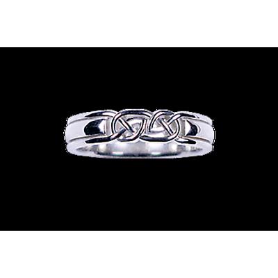 Celtic Ring - Men's White Gold Celtic Knot Ring