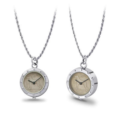 Irish Penny Watch - Irish Sixpenny Ladies Pendant Watch