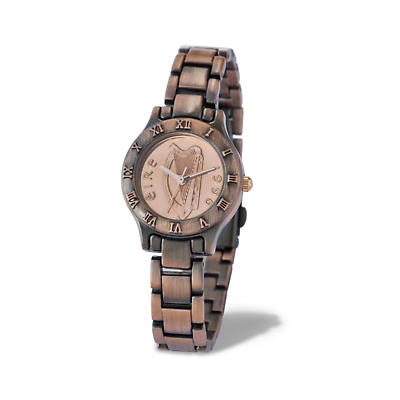 Irish Penny Watch - Ladies Brushed Copper Decimal Irish One Pence Watch