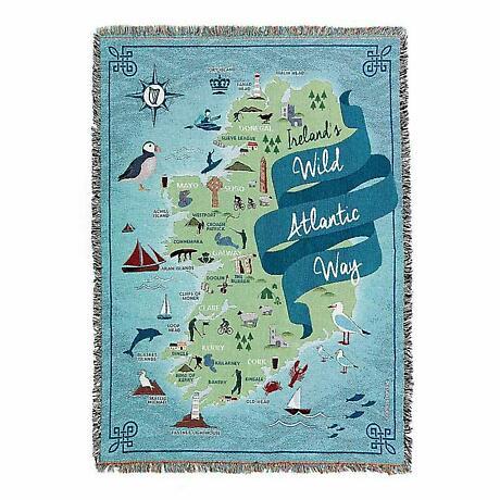Wild Atlantic Way Irish Throw