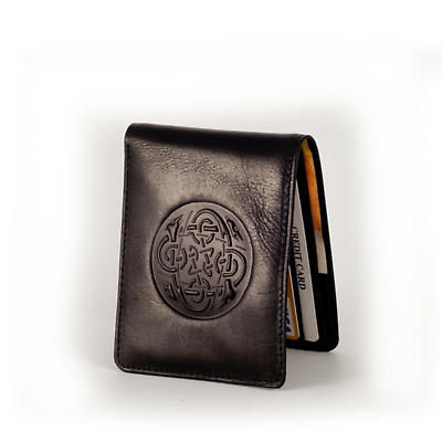 Celtic Wallet - Celtic Dog Design Leather Irish Wallet
