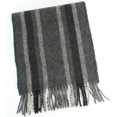 100% Lambswool Extra Long Scarf - Charcoal