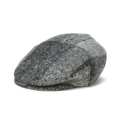 Vintage Irish Donegal Tweed Cap - Grey Heather