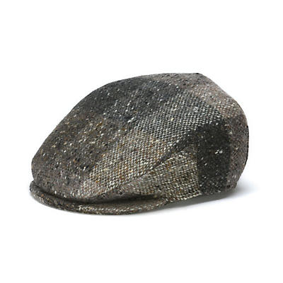 Vintage Irish Donegal Tweed Cap - Brown Heather