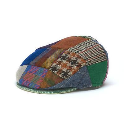 Vintage Irish Tweed Cap - Bright Patchwork