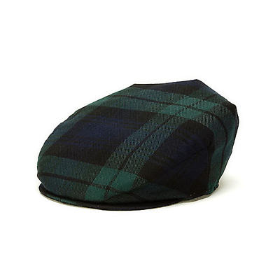 Vintage Irish Donegal Cap - Blackwatch Plaid