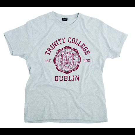 Irish T-Shirt - Trinity Wax Seal T-Shirt - Grey
