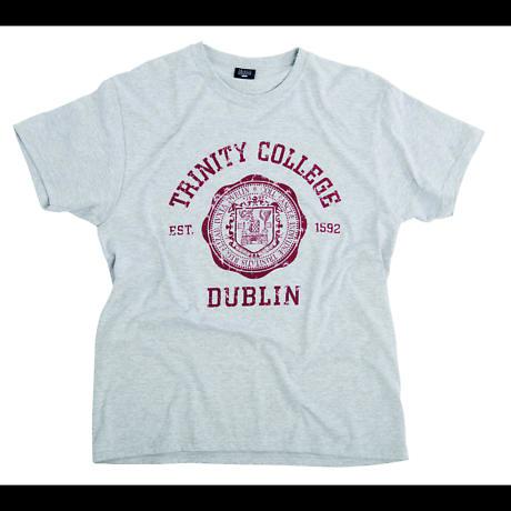 Irish T-Shirt - Trinity Wax Seal T-Shirt - Grey