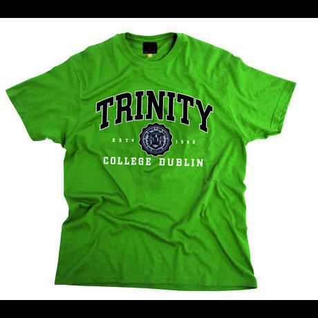 Irish T-Shirt - Trinity Collegiate Seal T-Shirt - Green