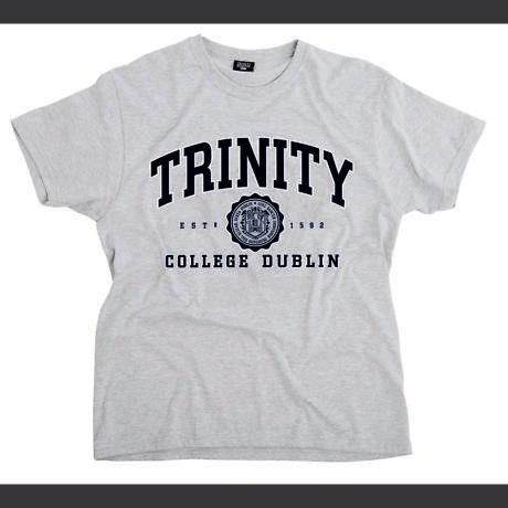Irish T-Shirt - Trinity Collegiate Seal T-Shirt - Grey