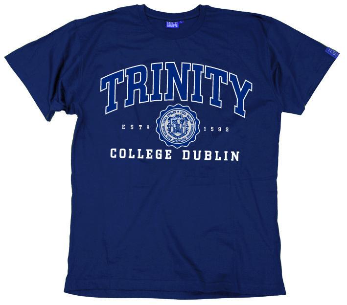 Irish T-Shirt - Trinity Collegiate Seal T-Shirt - Navy