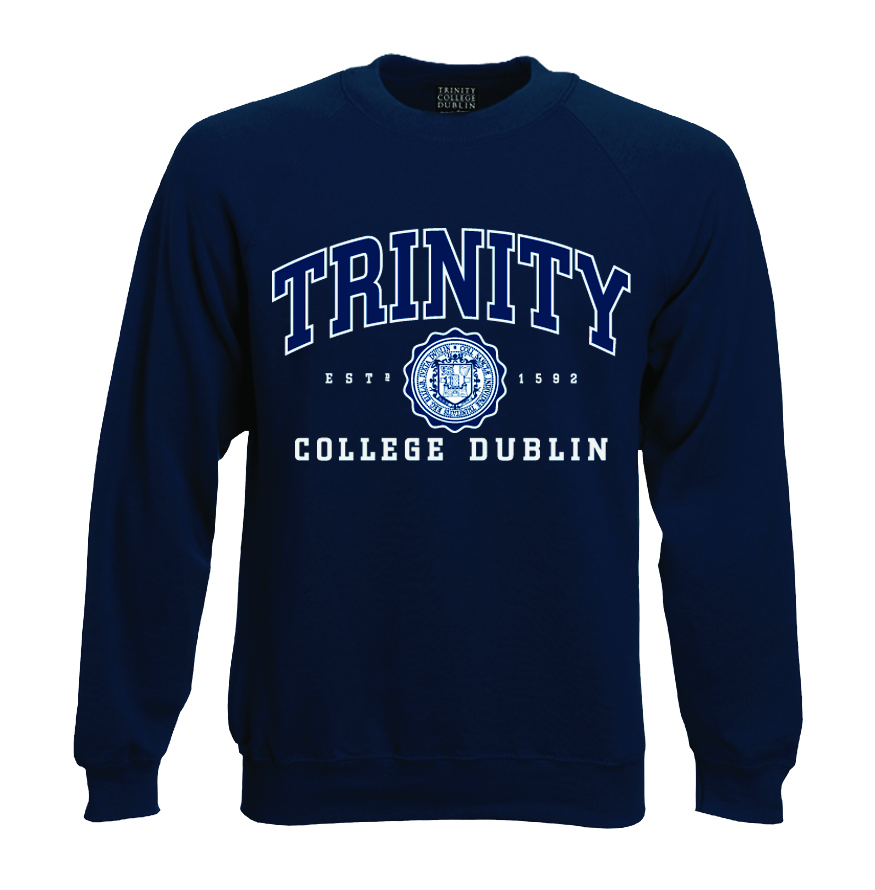 Irish Sweatshirt - Trinity College Crew Neck Sweatshirt - Navy
