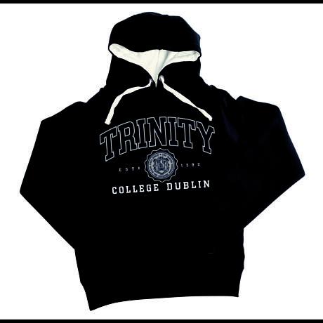 Irish Sweatshirt - Trinity Collegiate Seal Hooded Sweatshirt - Navy