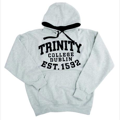 Irish Sweatshirt - Trinity 1592 Bold Hooded Sweatshirt - Grey