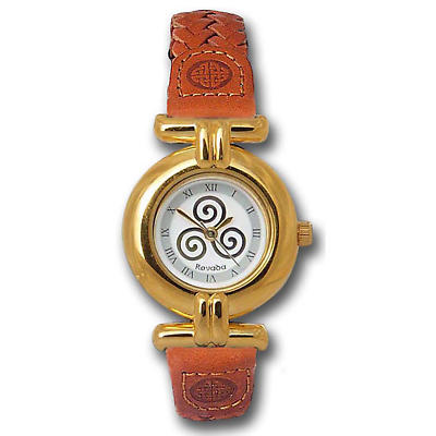 Ladies Celtic Spiral Triskele Watch - Gold Plated 'LiBan'