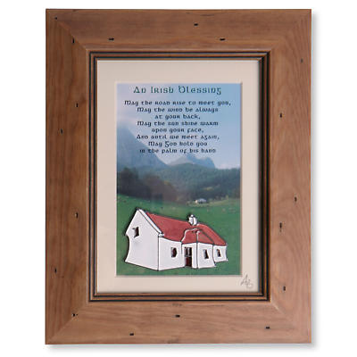 Irish Blessing Handpainted Glass Framed Print