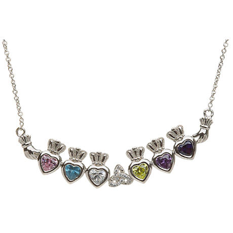 Sterling Silver Mother's Family Necklace - Trinity Knot