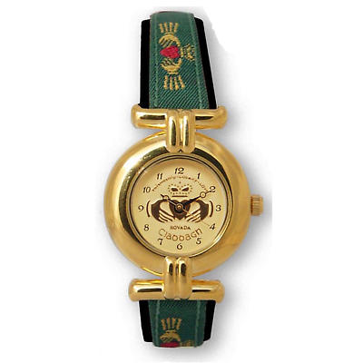 Ladies Claddagh Watch - Gold Plated 'Meave'