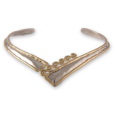 Grange Irish Jewelry - Two Tone Spiraled 'V' Torque Necklace