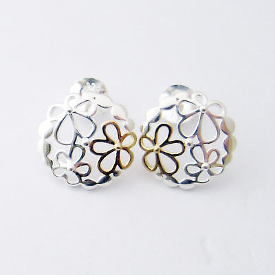 Jean Butler Jewelry - Sterling Silver Wild Flower Irish Earrings