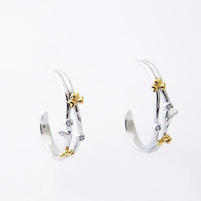 Jean Butler Jewelry - Sterling Silver Shamrock Crystal Irish Earrings