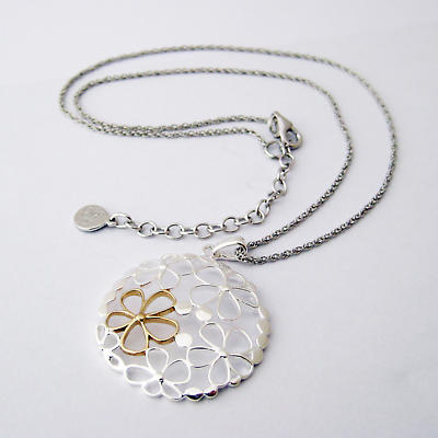 Jean Butler Jewelry Irish Necklace - Sterling Silver Wild Flowers Irish Pendant with Chain