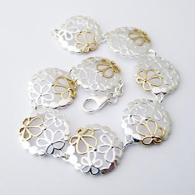 Jean Butler Jewelry Irish Bracelet - Sterling Silver Wild Flowers Irish Bracelet