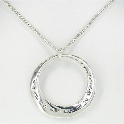 Irish Necklace - Irish Blessing Mobius Necklace